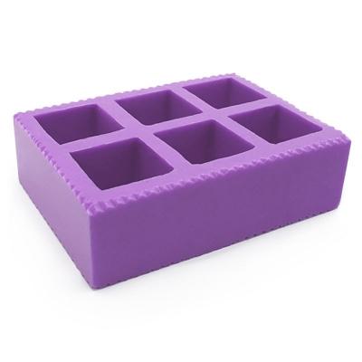 Molde de silicona 6 cubos para hacer jabones y velitas