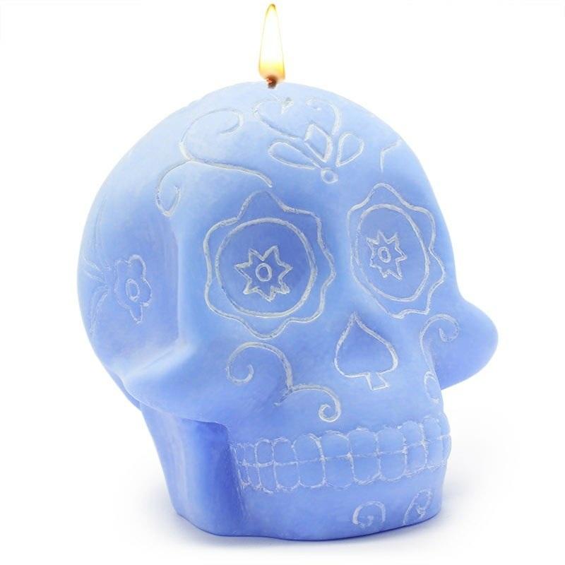 Forma para velas caveira decorada
