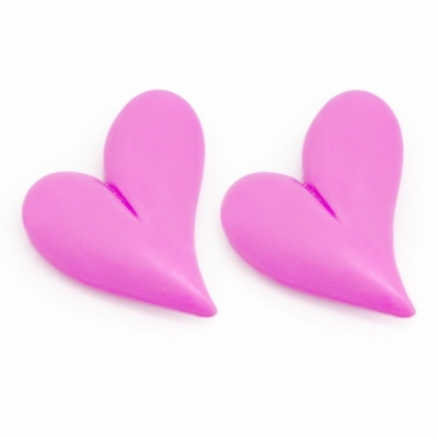 2 corações de São Valentím pequenos