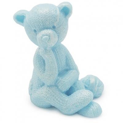 Ursinho de lã molde de silicone