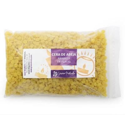 Cera de abejas amarilla en perlas para velas