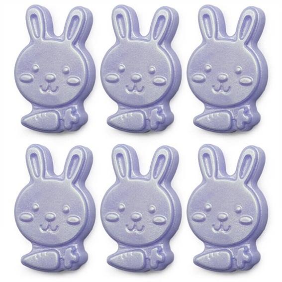 Forma silicone 6 caras de coelho