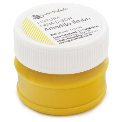 Pintura amarela para sabonetes