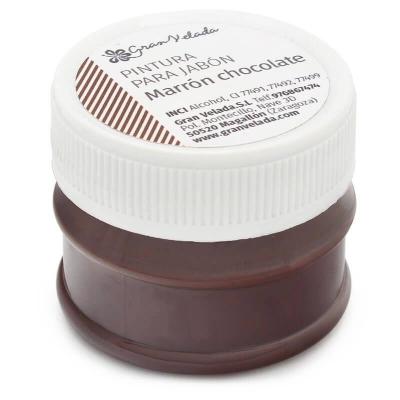Pintura marrom chocolate para sabonetes