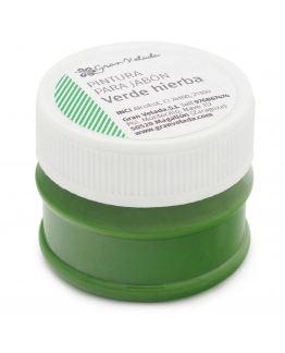 Pintura verde relva para sabonetes