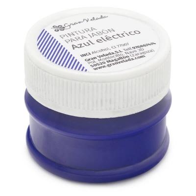 Pintura azul intenso para sabonetes