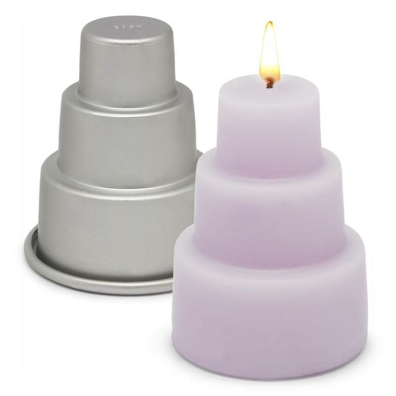 Molde de metal para velas tarta de novios