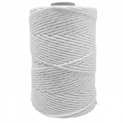 Cordon de algodon blanco