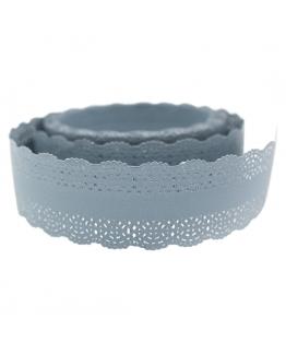Cinta para decorar velas, Renda de papel Azul (puntilla)