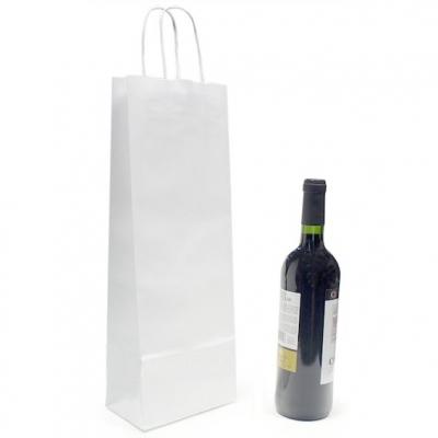 Saco branco para garrafa de vinho