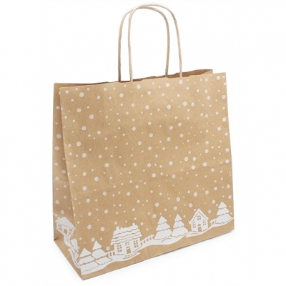 Bolsas de Navidad de papel Kraft