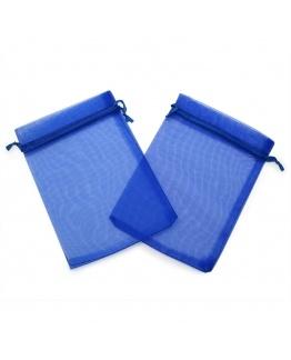 Sacos de organza para detalhe azuis