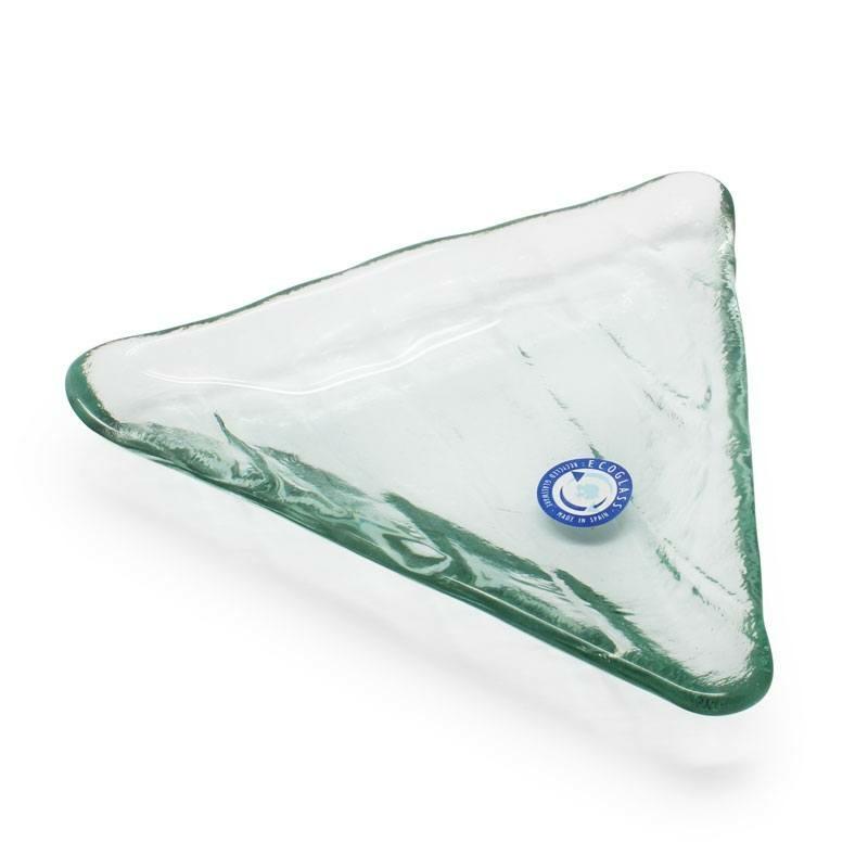 Saboneteira de vidro triangular