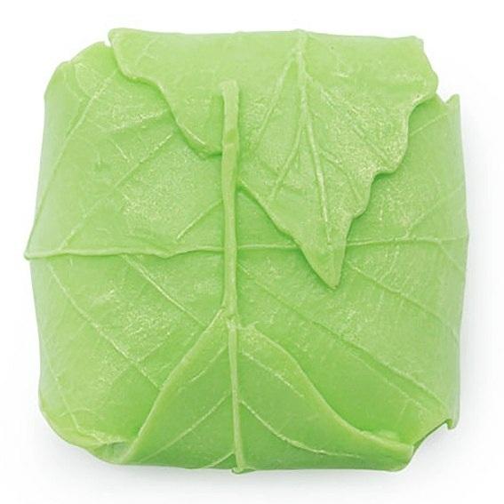 Molde sabonete embrulhado em folhas