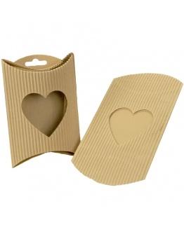 caixinha envelope, janela de coração