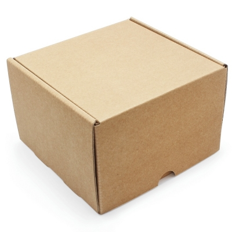 Caixa de presente kraft auto montável