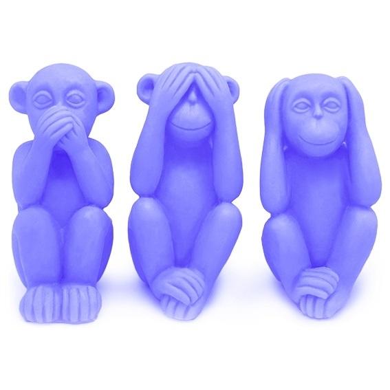 Molde 3 macacos sábios