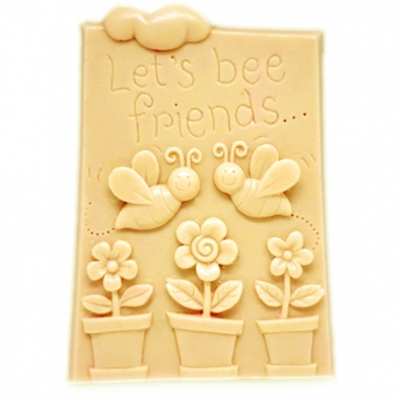 Molde para fazer pastilha de sabonete, Bee Friends