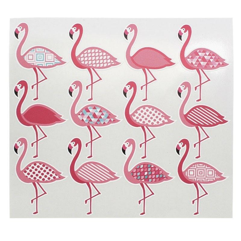 Adesivos de flamingos