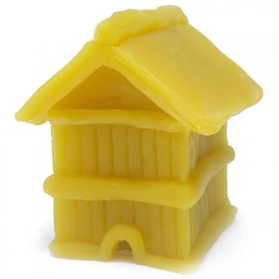 Molde Apícola Casinha quadrada, para fazer velas de cera de abelhas