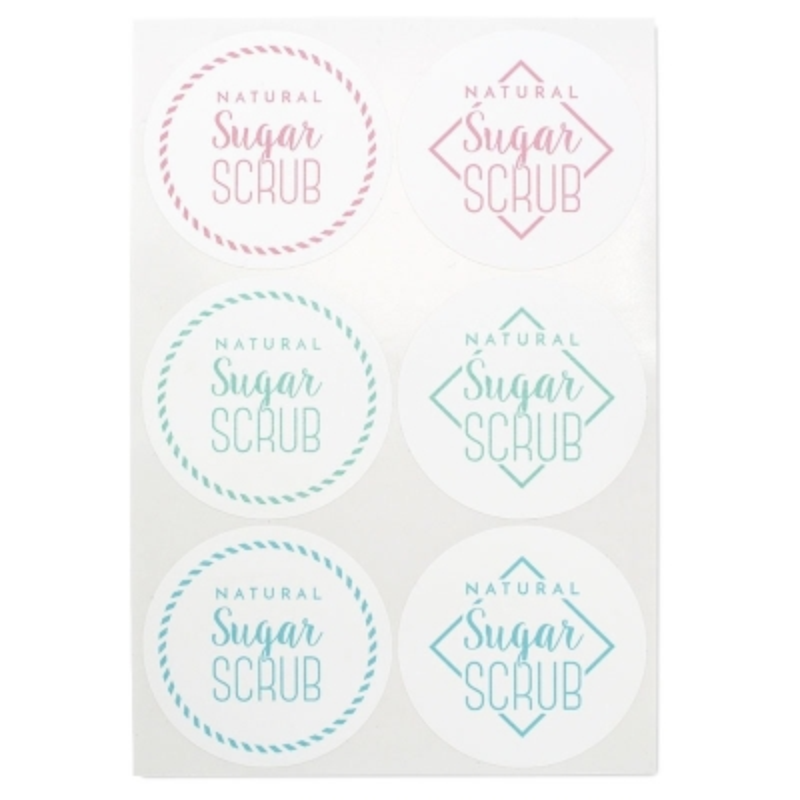 Adesivos para esfoliante de acúcar