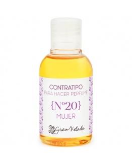 Contratipo de mulher Nº20 essência de perfume