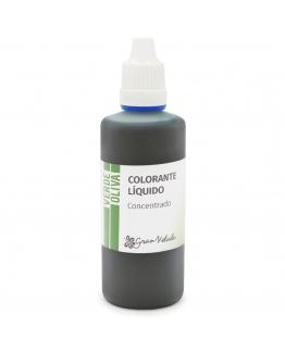 Colorante concentrado liquido verde oliva