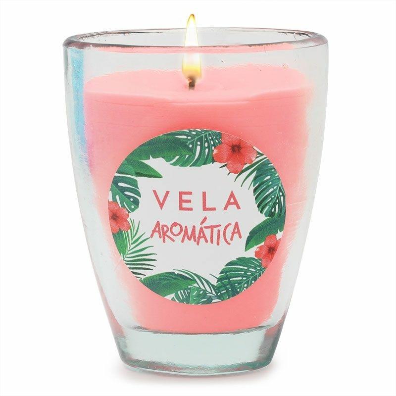 Pegatinas vela aromatica tropical
