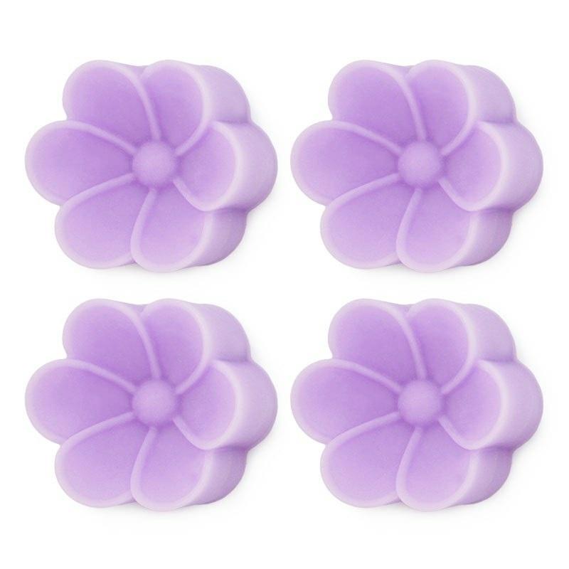 Forma de silicone 4 flores grandes