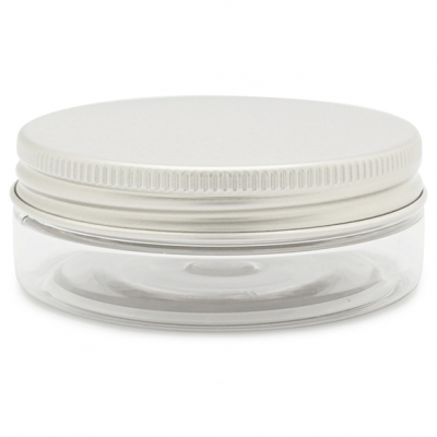Tarro transparente 50 ml tapa aluminio