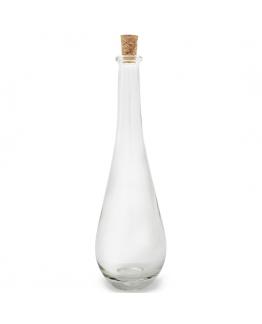 Garrafa vidro tampa cortiça anfora 100 ml
