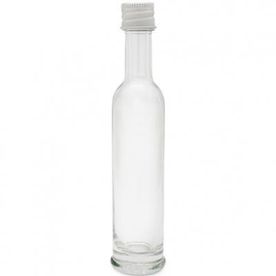 Garrafa vidro básica 40 ml. tampa aluminio