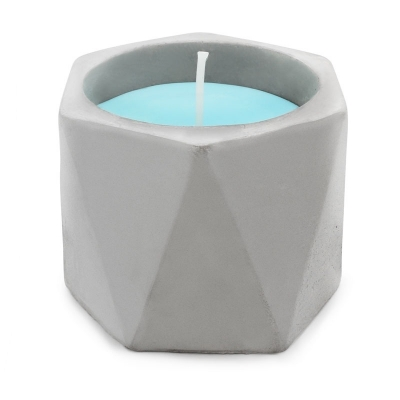Forma recipiente velas triangulares