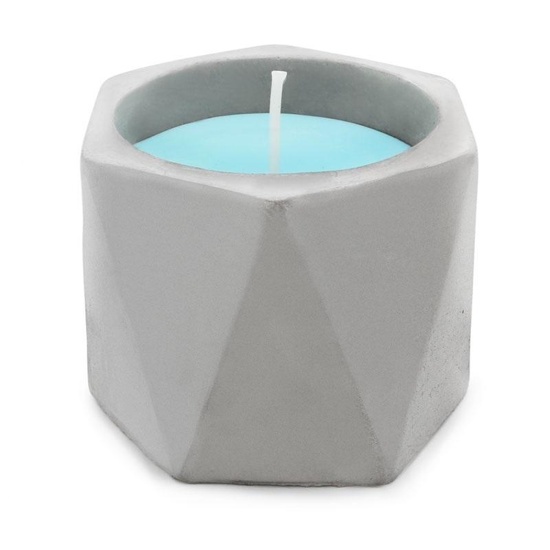 Molde recipiente velas triangulos