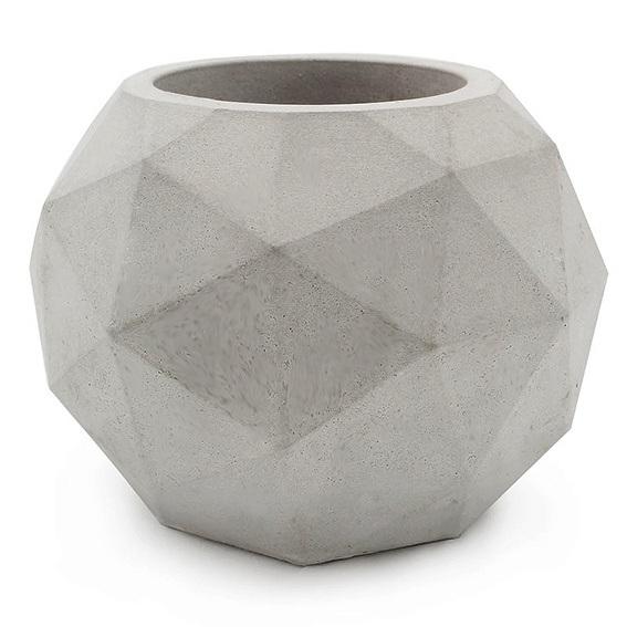 Molde porta-velas formato geométrico