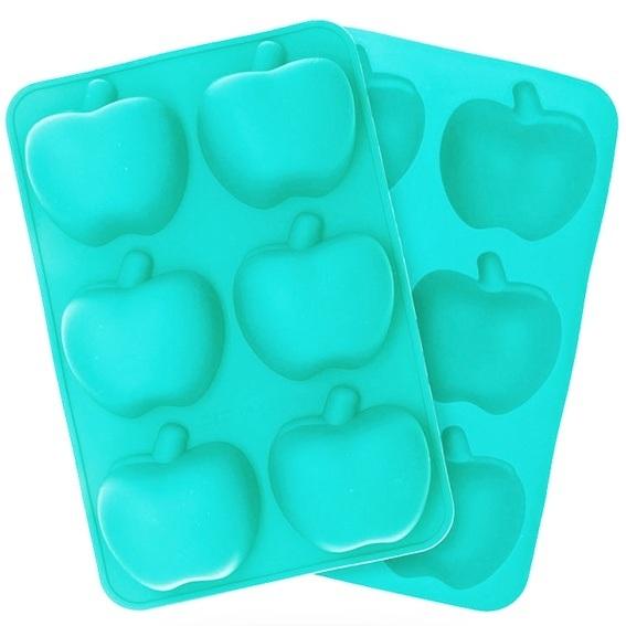 Molde silicona 6 medias manzanas