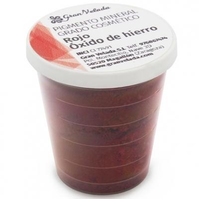 Pigmento mineral cosmetico vermelho oxido de ferro