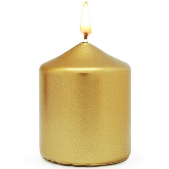 Verniz para pintar velas douradas