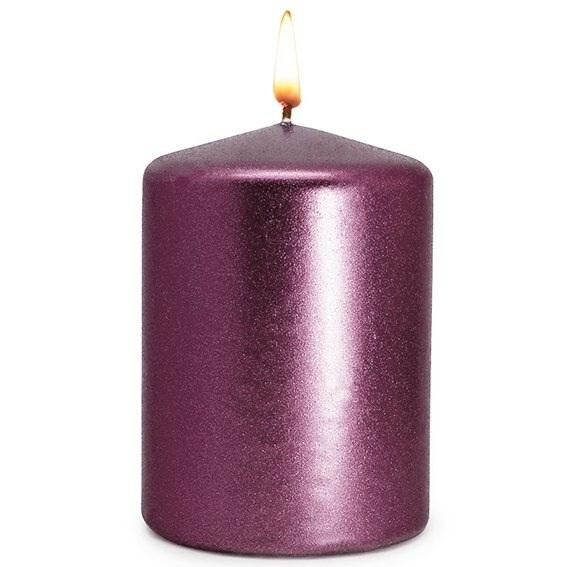 Barniz purple con destellos de purpurina