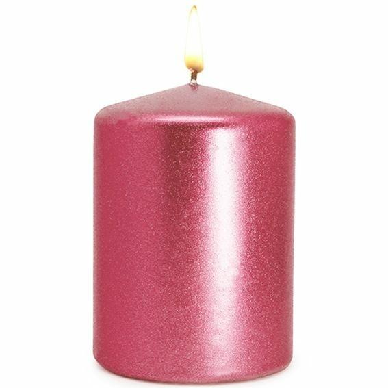 Barniz rosa destellos de purpurina