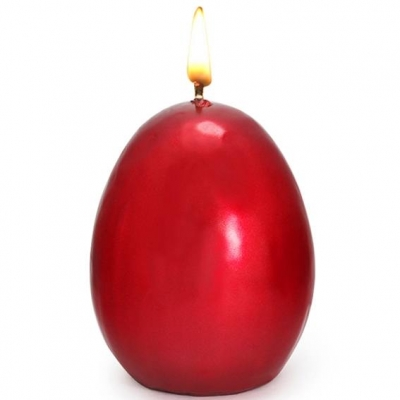 Verniz Especial para Velas Vermelho Metalizado.