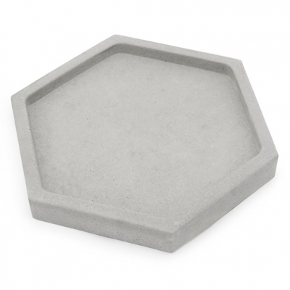 Jabonera de cemento hexagonal