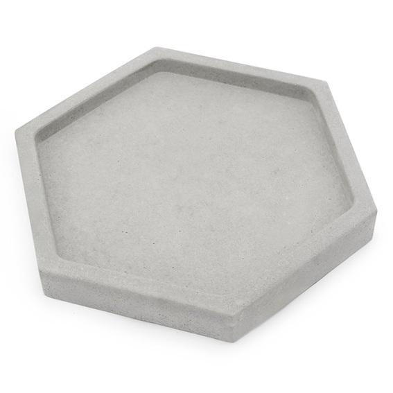 Saboneteira de cimento hexagonal