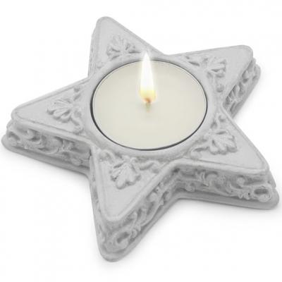 Molde porta-velas estrela filigrana