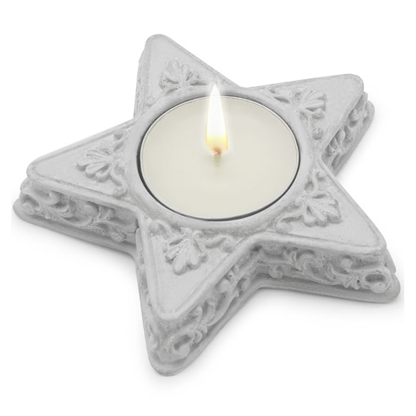 Molde para hacer tus propios soportes de velas con forma de estrella - Soportes para velas ...