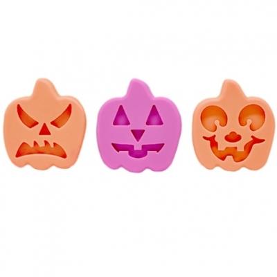 Molde Calabazas Halloween 3 cavidades