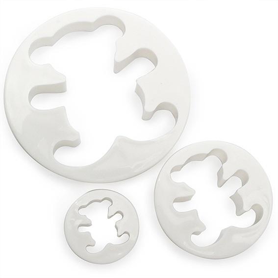 Corta-massas ursinho conjunto de 3 peças
