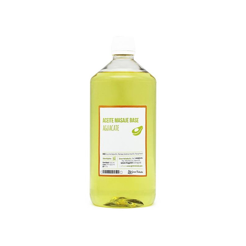 Aceite masaje base aguacate
