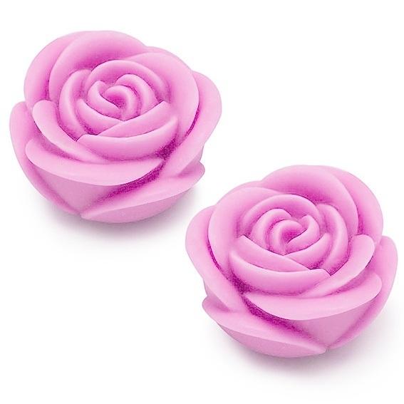 Molde 2 rosas redondeadas