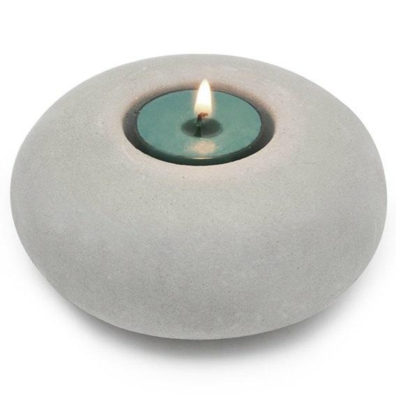 Molde porta-velas circular